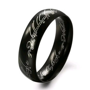 Other - LOTR One Ring Black Ring Stainless Sz 8, 9 or 10